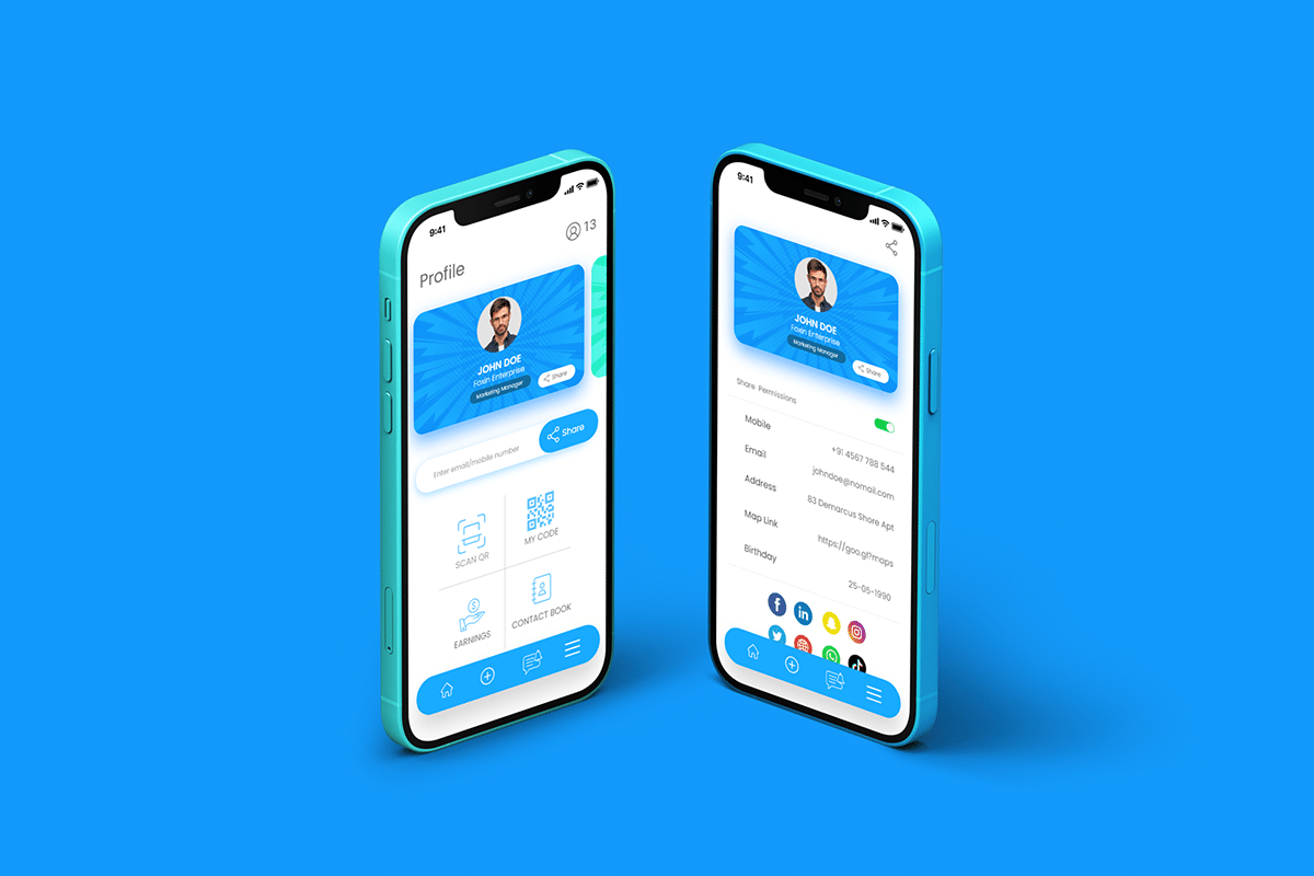 Electronic Business Card-Mobile App 1