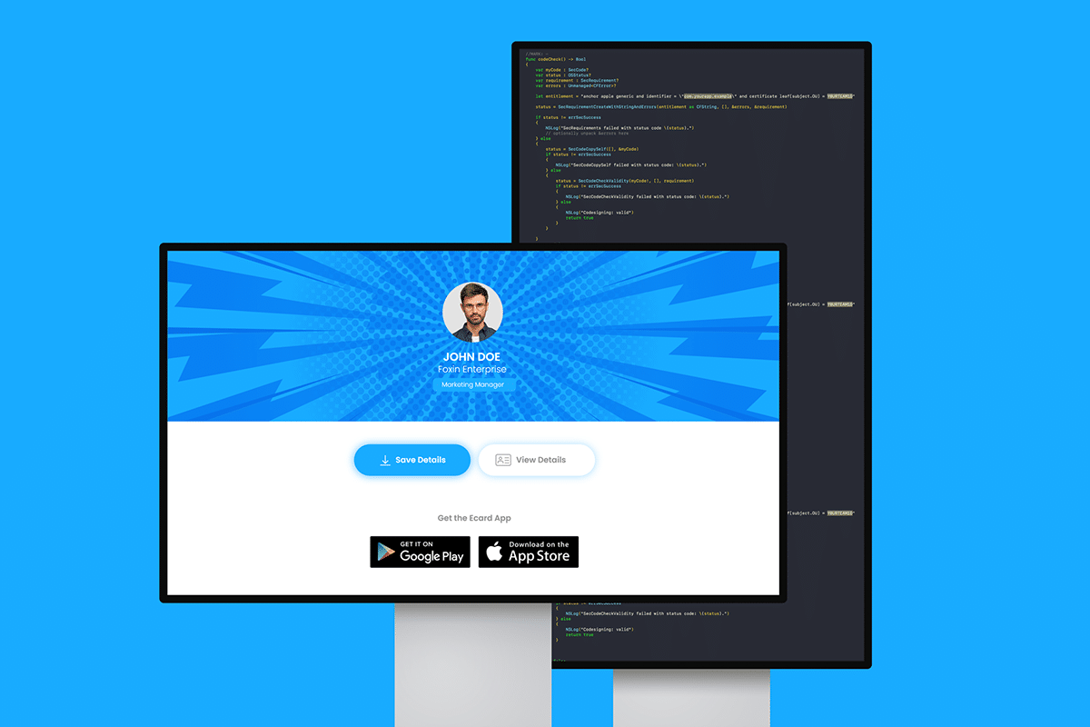 Electronic Business Card-Backend