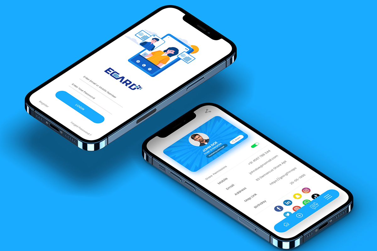 Electronic Business Card-Mobile App 2